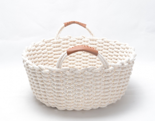 Cotton Rope Basket, Cotton rope Orgainer Eco-Friendly